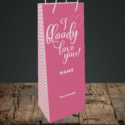 Picture of I Bloody Love You(Without Photo), Valentine's Design, Bottle Bag