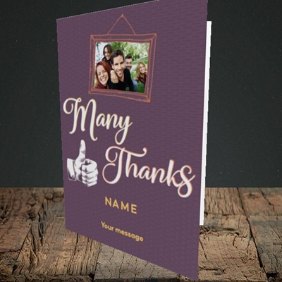 Picture of Many Thanks, Thank You Design, Portrait Greetings Card