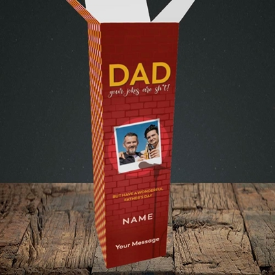 Picture of Dad Jokes, Father's Day Design, Upright Bottle Box