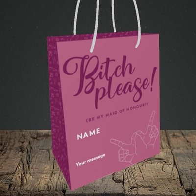 Picture of Bitch Please!(Without Photo), Wedding Design, Small Portrait Gift Bag