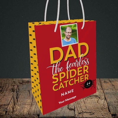 Picture of Spider Catcher, Father's Day Design, Small Portrait Gift Bag