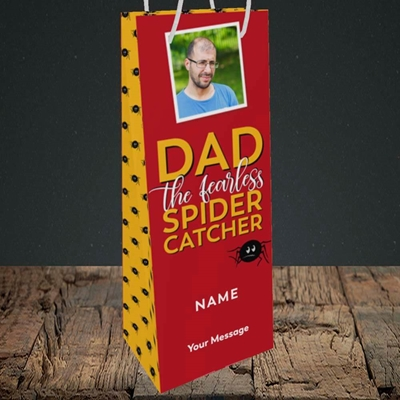 Picture of Spider Catcher, Father's Day Design, Bottle Bag