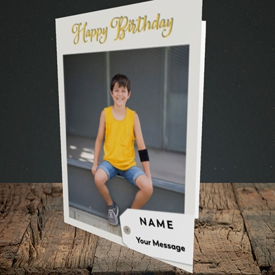 Picture of 1. A Happy Birthday, Large Photo, Birthday Design, Portrait Greetings Card