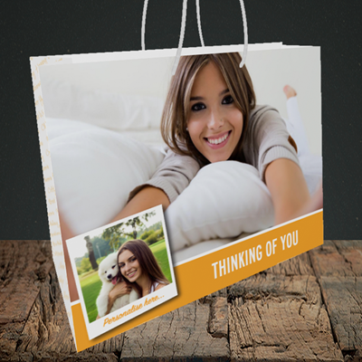 Picture of Photo, Thinking Of You Design, Medium Landscape Gift Bag