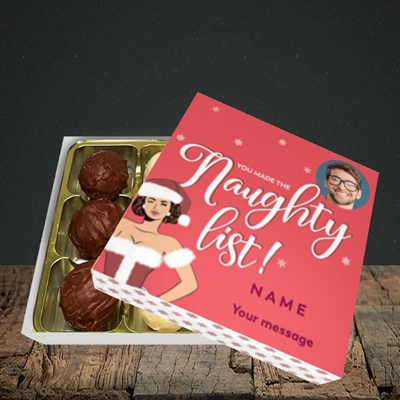 Picture of Naughty List, Christmas Design, Choc 9