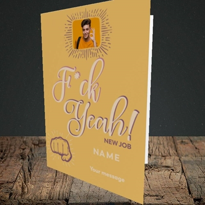 Picture of F*ck Yeah!, New Job Design, Portrait Greetings Card