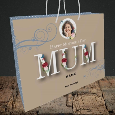 Picture of Mother's Day Flowers, Mother's Day Design, Medium Landscape Gift Bag