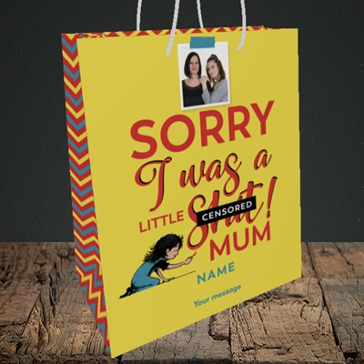 Picture of Little Sh*t, Mother's Day Design, Medium Portrait Gift Bag