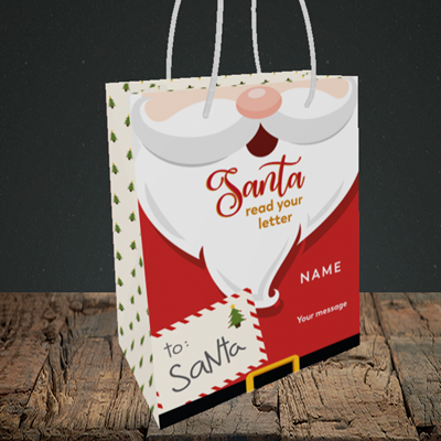Picture of Santa's Letters(Without Photo), Christmas Design, Small Portrait Gift Bag
