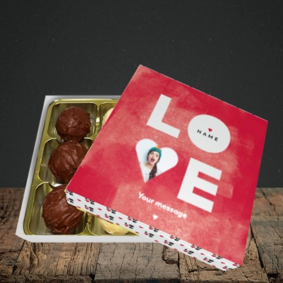 Picture of Love Type (stacked), Valentine Design, Choc 9
