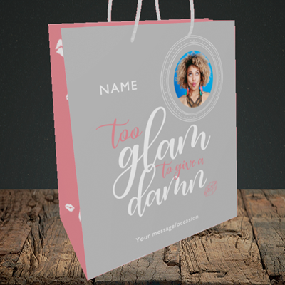 Picture of Glam, Birthday Design, Medium Portrait Gift Bag