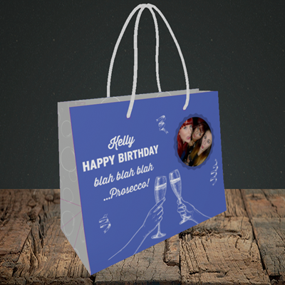 Picture of Blah, Birthday Design, Small Landscape Gift Bag