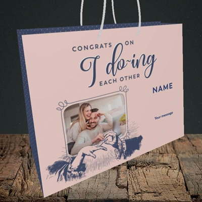 Picture of I Do-ing, Wedding Design, Medium Landscape Gift Bag