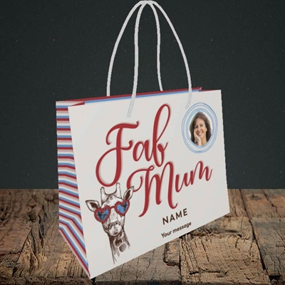 Picture of Fab Mum, Birthday Design, Small Landscape Gift Bag