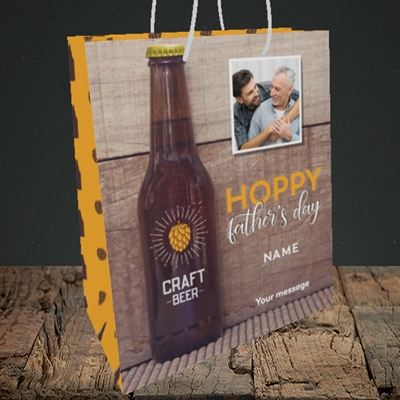 Picture of Hoppy, Father's Day Design, Medium Portrait Gift Bag
