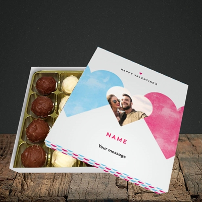 Picture of Joined Hearts (textured), Valentine Design, Choc 16