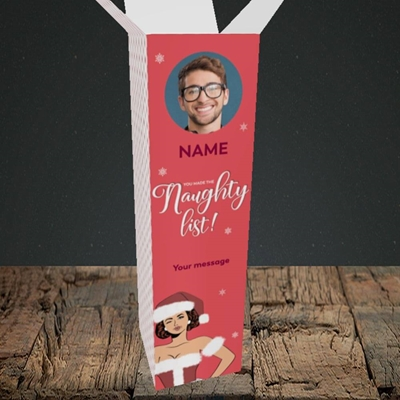 Picture of Naughty List, Christmas Design, Upright Bottle Box