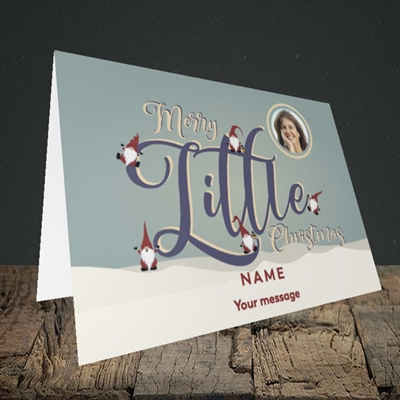Picture of Merry Little Christmas, Christmas Design, Landscape Greetings Card