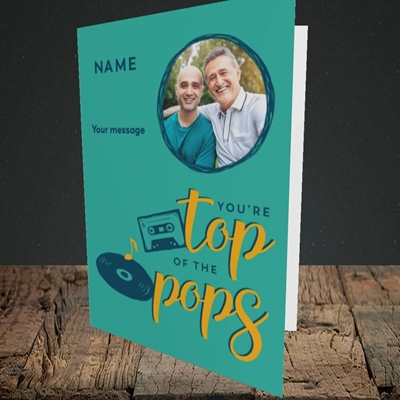 Picture of Top Of The Pops, Father's Day Design, Portrait Greetings Card