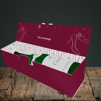 Picture of Christmas Shoes(Without Photo), Christmas Design, Lay-down Bottle Box