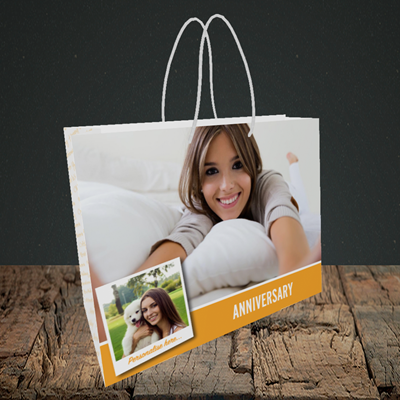Picture of Photo, Anniversary Design, Small Landscape Gift Bag