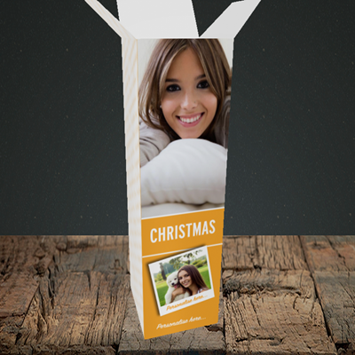 Picture of Photo, Christmas Design, Upright Bottle Box
