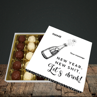 Picture of Let's Drink(Without Photo), New Year Design, Choc 25