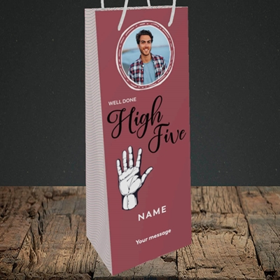 Picture of Well Done High Five, Celebration Design, Bottle Bag