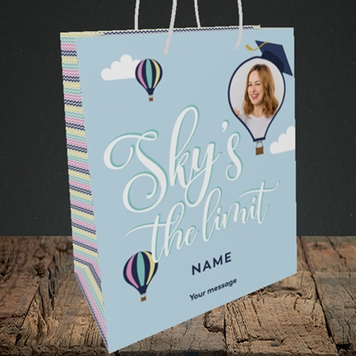 Picture of Sky's the Limit, Graduation Design, Medium Portrait Gift Bag