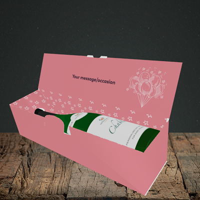 Picture of Age, (Without Photo) Birthday Design, Lay-down Bottle Box