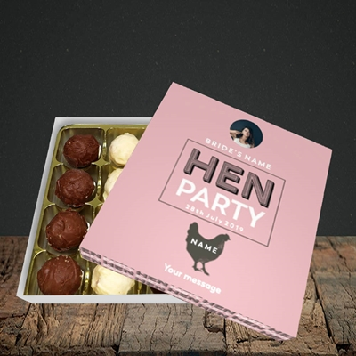 Picture of Hen Party Party Party - Peachy Pink, Wedding Design, Choc 16