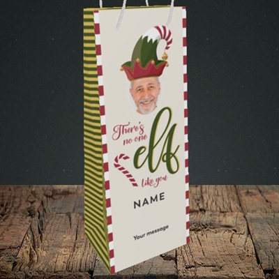 Picture of No One Elf, Christmas Design, Bottle Bag