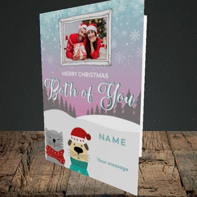 Picture of Both Of You, Christmas Design, Portrait Greetings Card