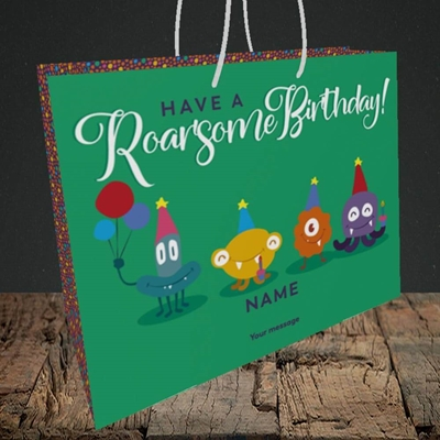 Picture of Roarsome(Without Photo), Birthday Design, Medium Landscape Gift Bag