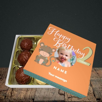 Picture of Little Monkey's 2nd, Birthday Design, Choc 9