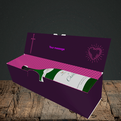 Picture of Game Of Thrones, (Without Photo) Valentine's Design, Lay-down Bottle Box