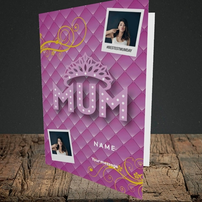 Picture of Bestest Mum, Mother's Day Design, Portrait Greetings Card
