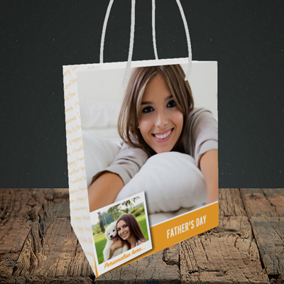 Picture of Photo, Father's Day Design, Small Portrait Gift Bag
