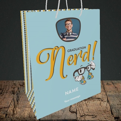 Picture of Graduation Nerd, Graduation Design, Medium Portrait Gift Bag