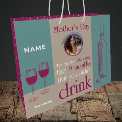 Picture of Didn't Drink, Mother's Day Design, Medium Landscape Gift Bag