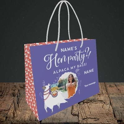 Picture of Alpaca My Bags, Wedding Design, Small Landscape Gift Bag