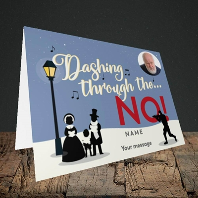 Picture of Dashing Through The... NO!, Christmas Design, Landscape Greetings Card