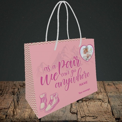 Picture of Anywhere, Valentine's Design, Small Landscape Gift Bag