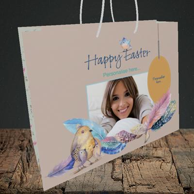 Picture of Birds, Easter Design, Medium Landscape Gift Bag