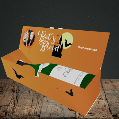 Picture of Vampire, Halloween Design, Lay-down Bottle Box