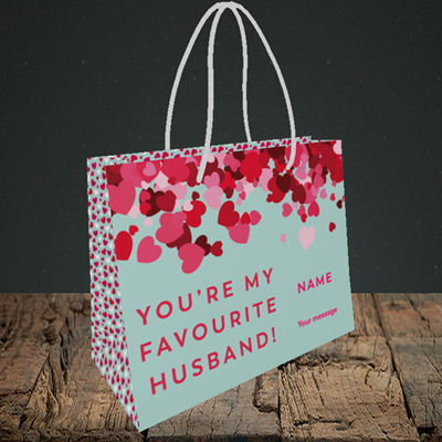 Picture of Favourite Husband(Without Photo), Valentine's Design, Small Landscape Gift Bag