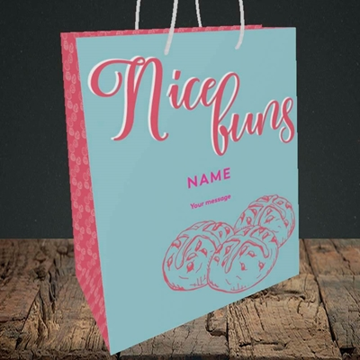Picture of Nice Buns, (Without Photo) Easter Design, Medium Portrait Gift Bag