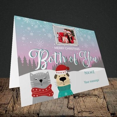 Picture of Both Of You, Christmas Design, Landscape Greetings Card