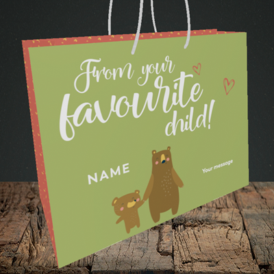 Picture of Favourite Child, (Without Photo) Mother's Day Design, Medium Landscape Gift Bag