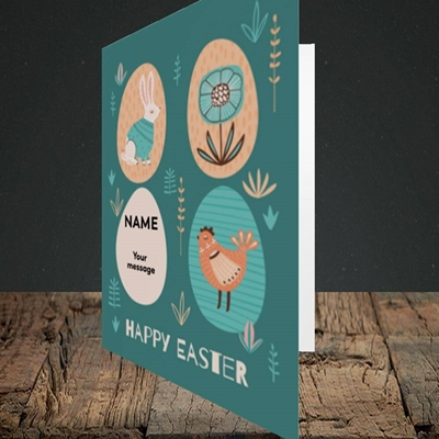 Picture of Easter Egg Farm(Without Photo), Easter Design, Portrait Greetings Card